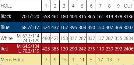Palm Desert Golf - Score Card - Front 9
